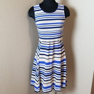 Sparrow Blue Stripe Sleeveless sweater Dress